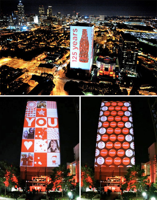 Coca-Cola's 125th Anniversary (Images courtesy Obscura Digital)