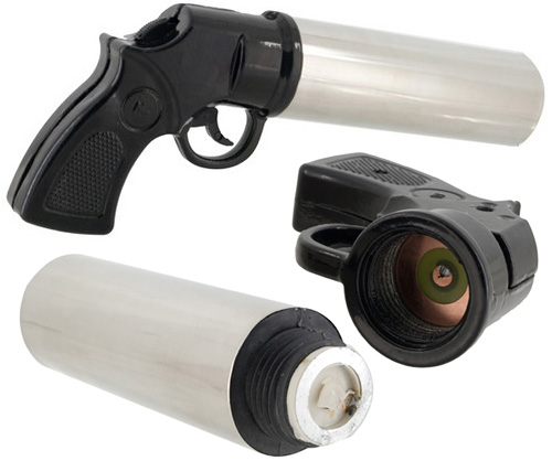 DryShot Fire Extinguishing Gun (Images courtesy The Red Ferret Journal)
