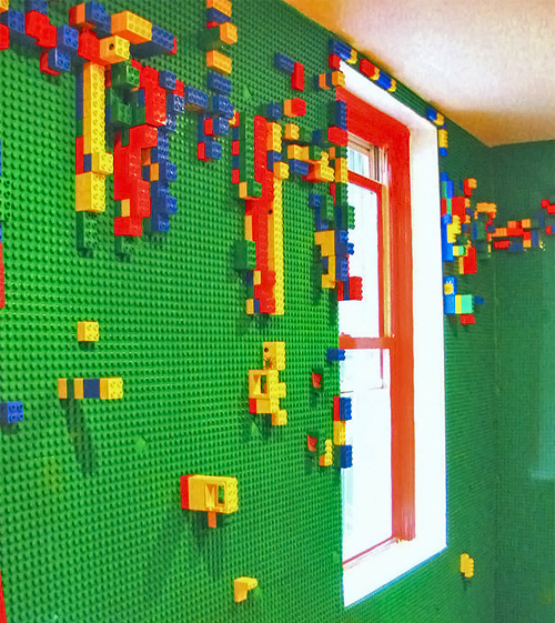 LEGO Duplo Plate Covered Walls (Image courtesy HGTV)