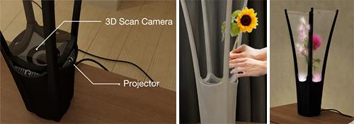 Flora Digital Flower Vase (Images courtesy designboom)