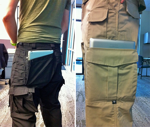 iPad 2 Friendly Pants (Images courtesy Tactical Pants Blog)