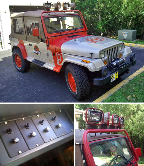 Jurassic Park Themed Jeep Wrangler (Images courtesy eBay)