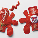 Clever Ketchup Packets Designed To Sell Stain Remover, Not Condiments