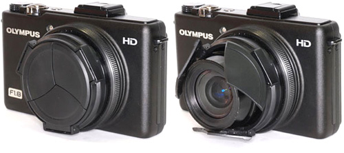 Custom Made Retractable Lens Cap For The Olympus XZ-1 (Images courtesy UN)