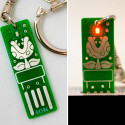 Light Up Piranha Plant USB Circuit Board Keychain