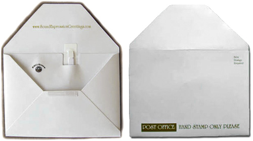 Talking Recordable Envelopes (Images courtesy Sound Expression Greetings)