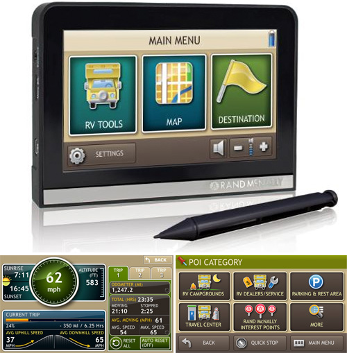 Rand McNally TripMaker RVND (Images courtesy Rand McNally)