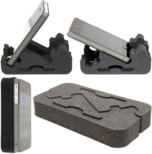 ZIGSTAND Foam Smartphone Stand (Images courtesy Geek Stuff 4 U)