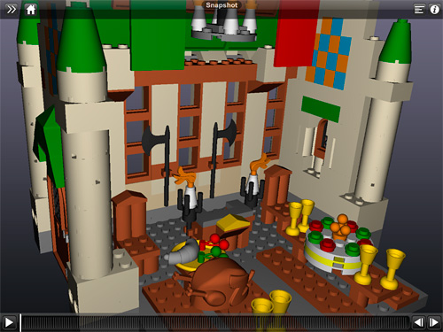 Autodesk 3D Interactive LEGO Building Instructions (Image property OhGizmo!)