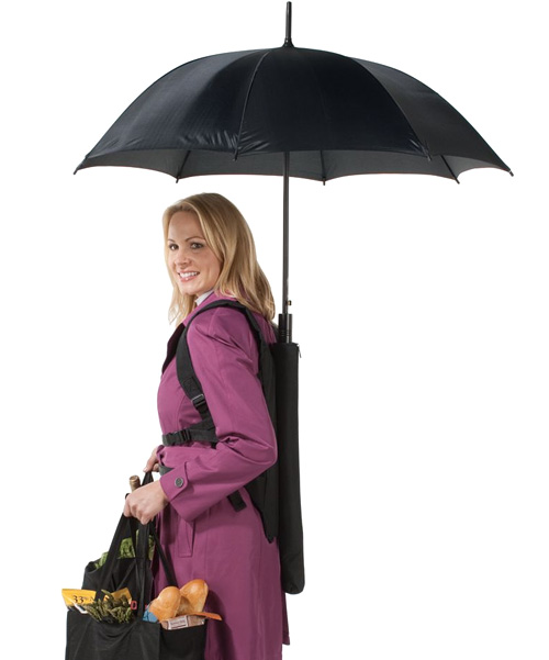 Backpack Umbrella (Image courtesy Hammacher Schlemmer)