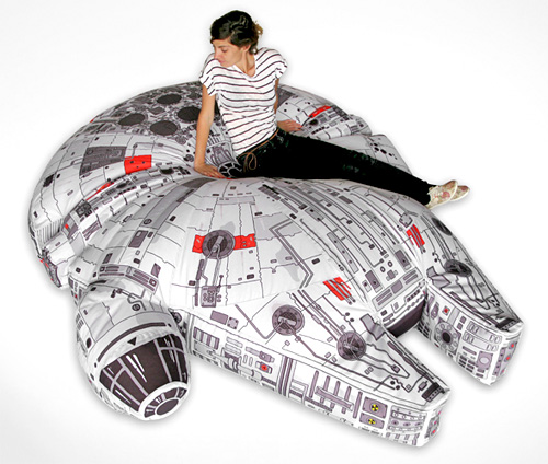 Millennium Falcon Bean Bag Chair (Image courtesy Woouf!)