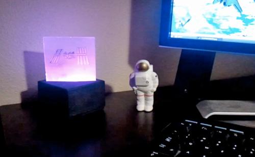 ISS Lamp (Image courtesy Nathan Bergey)