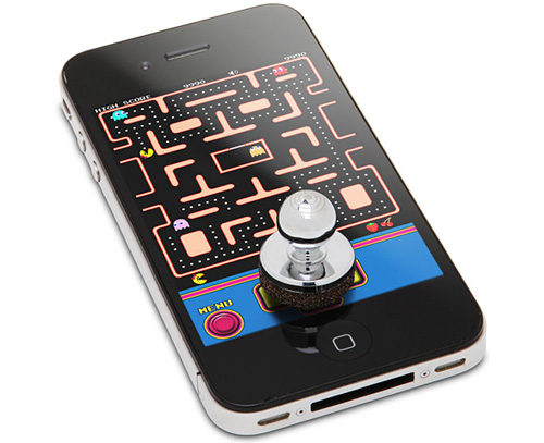 JOYSTICK-IT Arcade Stick for iPhone (Image courtesy ThinkGeek)