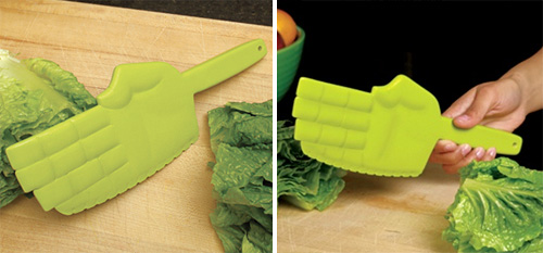 Karate Chopper Lettuce Knife (Images courtesy GAMA-GO)