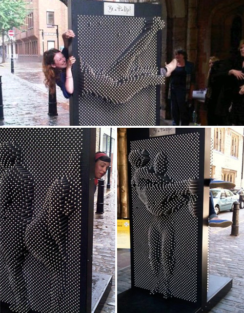 Life-Size Pin Art (Images courtesy FashionistaBarbieUK)