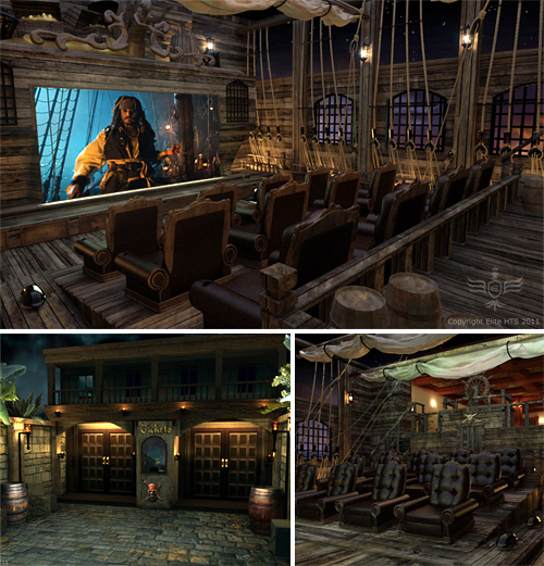Pirates Themed Home Theater (Images courtesy Elite Home Theater Seating)