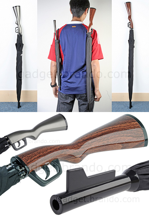 Rifle Umbrella (Images courtesy Gadget.brando.com)