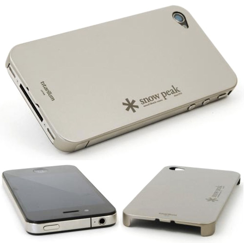 Snow Peak Titanium iPhone 4 Case (Images courtesy Snow Peak)