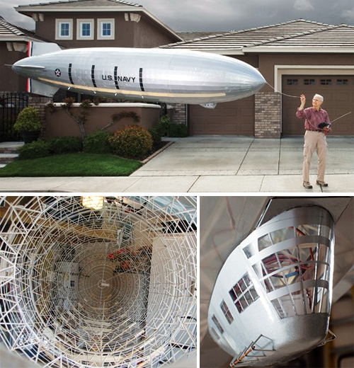 USS Macon Model Airship (Images courtesy Popular Science)