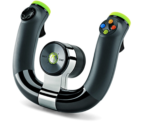Microsoft Xbox 360 Wireless Speed Wheel (Image courtesy Microsoft)