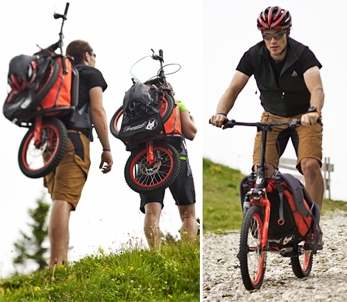 Bergmönch Backpack Scooter (Images courtesy Koga B.V.)