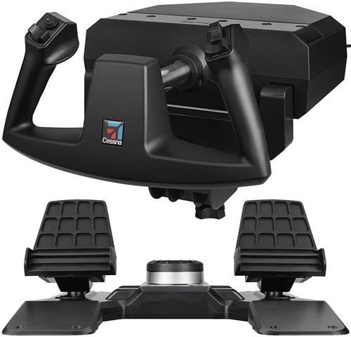 Saitek Cessna Brand Flight Sim Controls (Images courtesy Mad Catz)