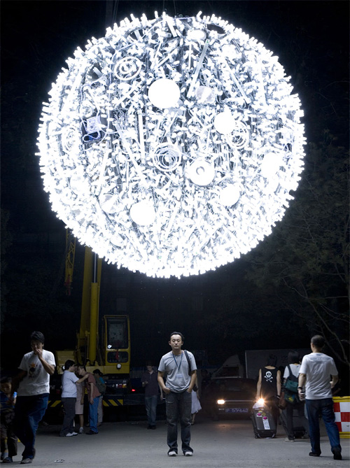 CFL Moon by Wang Yuyang (Image courtesy arthub)