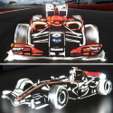 Impressive Light Drawn Formula 1 Cars