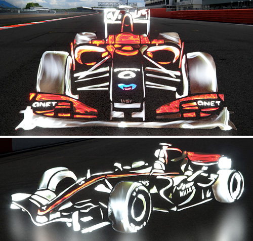 Impressive Light Drawn Formula 1 Cars (Images courtesy Jalopnik)
