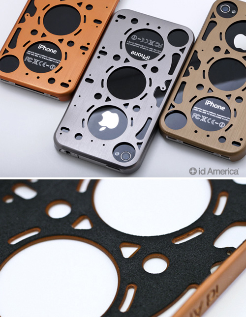 Gasket Inspired Brushed Aluminum iPhone 4 Case (Images courtesy id America)