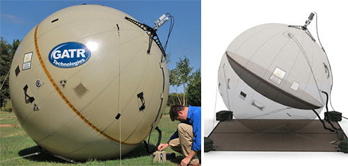GATR Inflatable Satellite Antenna (Images courtesy GATR)