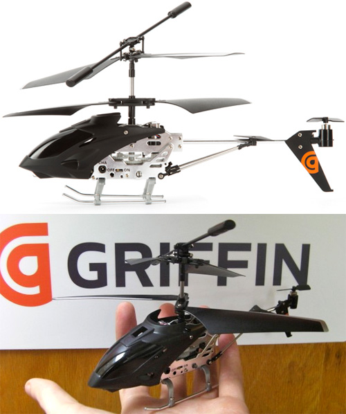 Griffin Helo TC iPhone Controlled Helicopter (Images courtesy Griffin and Tech Digest)