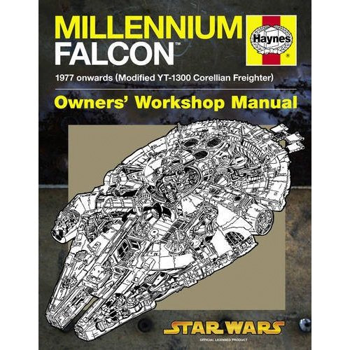 Millennium Falcon Haynes Manual (Image courtesy Amazon)
