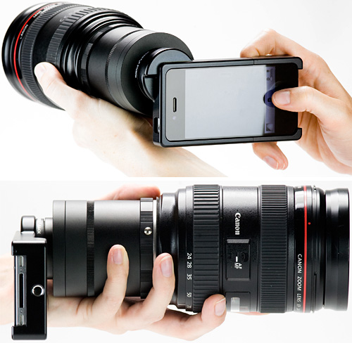iPhone SLR Lens Mount (Images courtesy Photojojo)