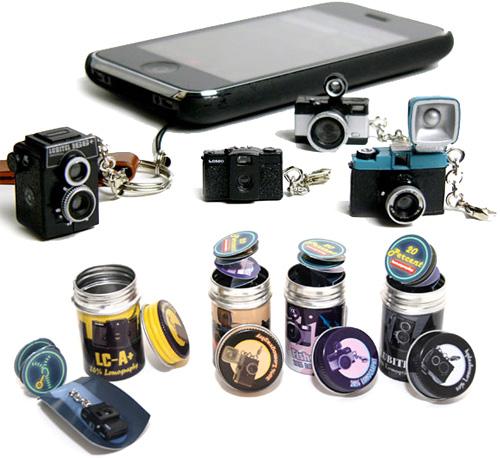 Miniature Keychain Lomo Cameras (Images courtesy Rakuten)
