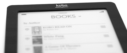 Kobo eReader Touch Edition (Image property OhGizmo!)