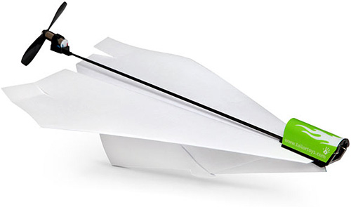Electric Paper Airplane Conversion Kit (Image courtesy ThinkGeek)