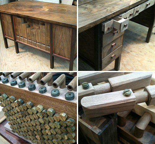 The Pipe Organ Desk (Images courtesy Kagen Schaefer)