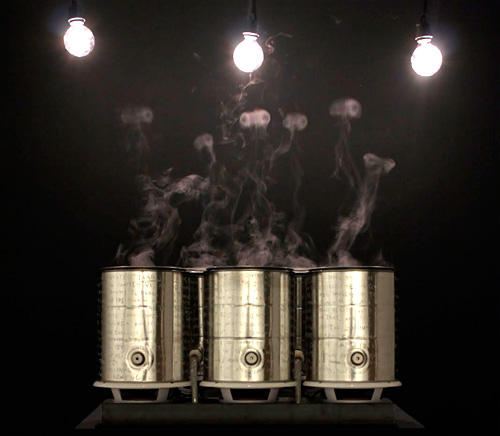 Smoke Machine Pixel Display Art Piece (Image courtesy Mitchell F. Chan)