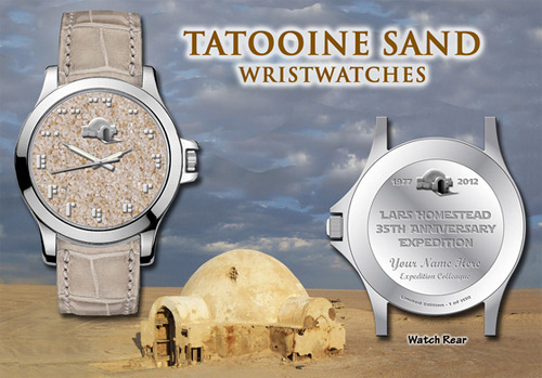 Tatooine Sand Watches (Image courtesy Planet Tatooine Collectibles)