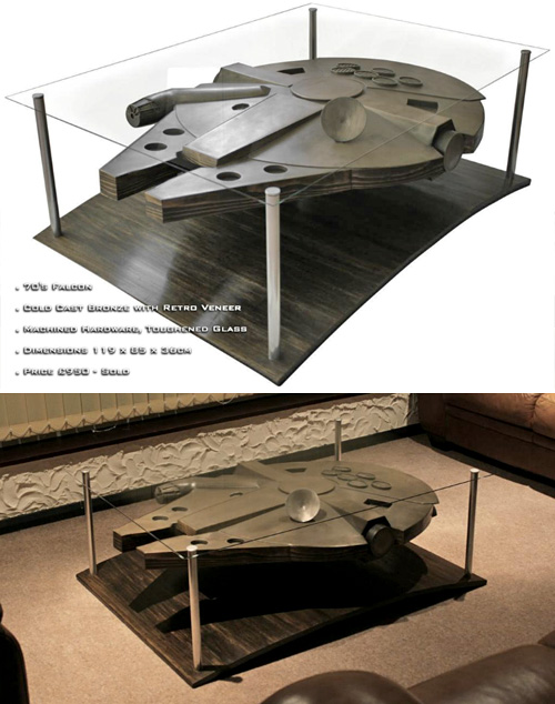 70's (Millennium) Falcon Coffee Table (Images courtesy R9)