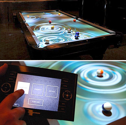 CueLight Interactive Pool Table System (Images courtesy CueLight)