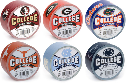 College Branded Duck Tape (Images courtesy Duck Tape)