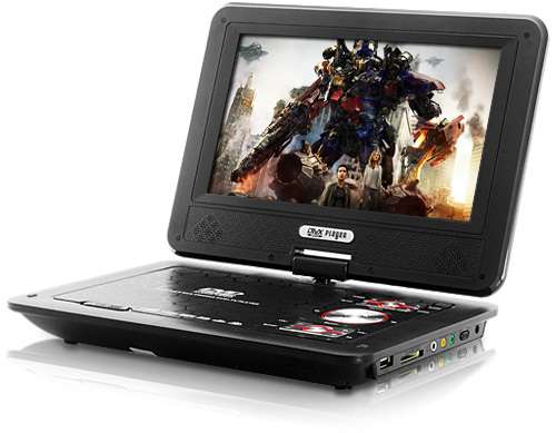 9 Inch Widescreen Portable DVD Player with Copy Function (Image courtesy Chinavasion)