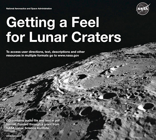 NASA's 'Getting A Feel For Lunar Craters' Book (Image courtesy NASA)