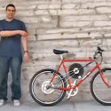 Flywheel Equipped Bicycle Gives Something Back