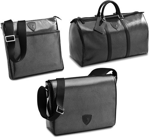 Lamborghini Carbon Fiber Bags (Images courtesy Lamborghini)