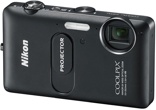 Nikon Coolpix S1200pj Projector Phone (Image courtesy Nikon)