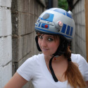 'Tis a DIY R2-D2 Bike Helmet.  That Is All