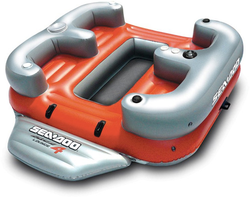 Sea-Doo Aqua Lounge 4 Person Inflatable with MP3 System (Image courtesy Sea-Doo)